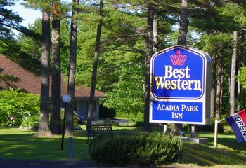 Exterior view of Best Western Acadia Park Inn.