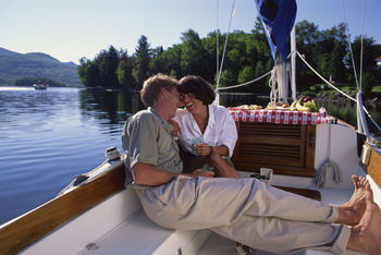 Romantic boat ride at The Prestige Hotel Kelowna.