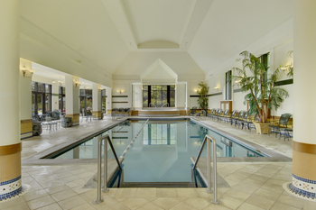 Indoor pool at Fairmont Le Manoir Richelieu.