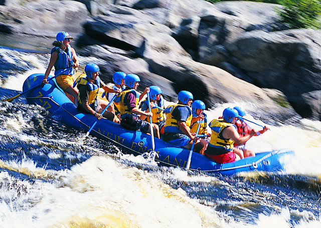 Water rafting at New England Outdoor Center.