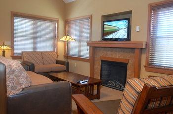 Cottage interior at Honey Creek Resort.