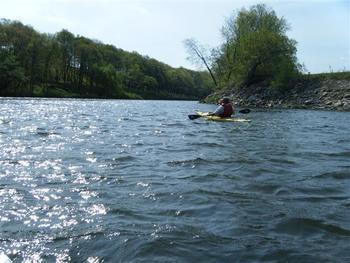 Kayaking at Red Cedar Lodge.