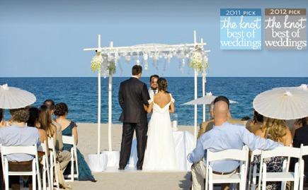 Wedding on the beach at The Seagate Hotel & Spa.