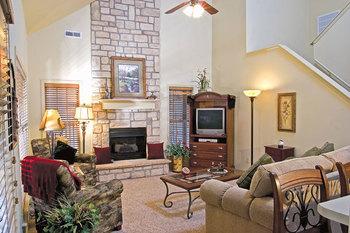 Rental living room at Stonebridge Resort.