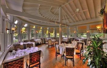 Dining at Jekyll Island Club Hotel.