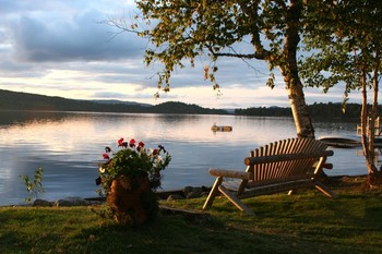 Rangeley Lake at Bald Mountain Camps Resort.