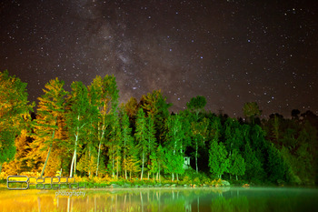 Starry sky at Olive the Lake.