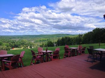 Patio at Otsego Club and Resort.
