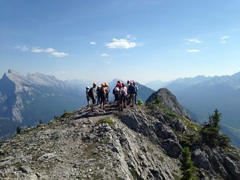 Mountain climbing at Banff Lodging Company.