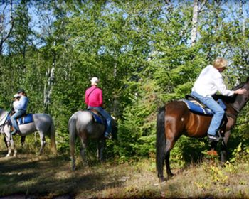 Horse Back Riding at Gunflint Lodge