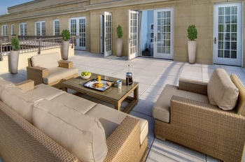 Patio view at Lorien Hotel & Spa.