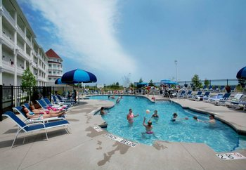 Outdoor pool at Blue Harbor Resort & Spa.