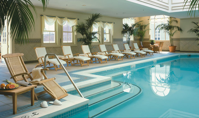Indoor pool at The Jefferson Hotel.