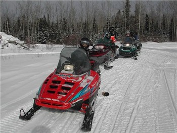 Snowmobiling at Trout Lake Resort