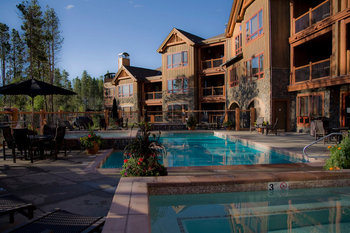 Outdoor pool at Blue Sky Breckenridge.