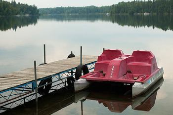 Paddle boat at Half Moon Trail Resort.
