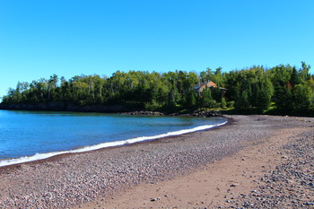 The beach at Superior Shores Resort.