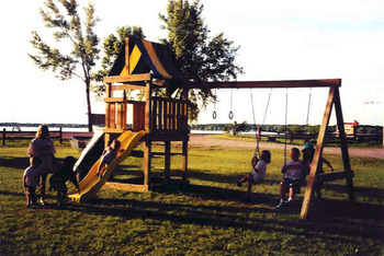 Children's playground at Battle View Resort.