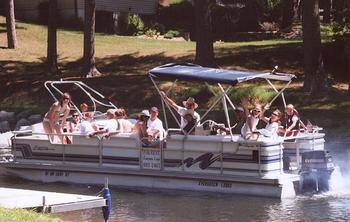 Boating Fun at Evergreen Lodge