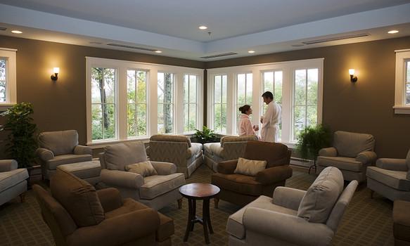 Lounge view at Wintergreen Resort.