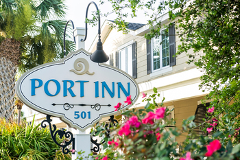 Exterior view of Port Inn Hotel.
