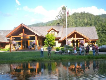 Fishing at Mountain Springs Lodge.