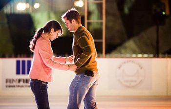Ice skating near Canyon Lake Resort.
