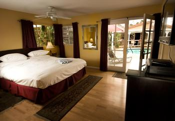 Guest room at LA Dolce Vita Resort.