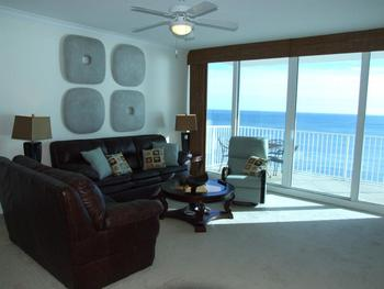 Vacation rental living room at Young's Suncoast.
