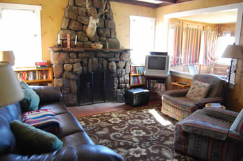 Cabin living room at Range Property Management.