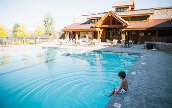 Outdoor pool at Teton Springs Lodge.