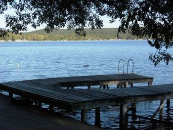 Lake dock at Rio Vista Resort.