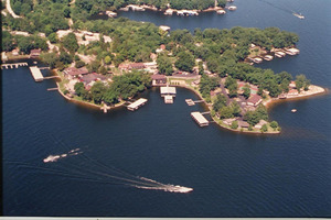 Ariel View of Lakeview Resort