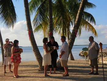 Wedding on the beach at Bay Harbor Lodge.