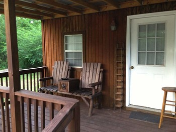 Cabin porch at Berry Creek, LLC.