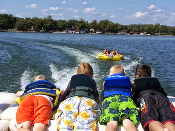 Water activities at The Lodge on Otter Tail Lake.