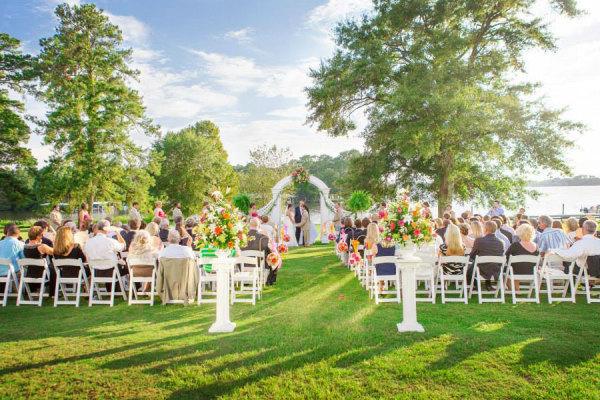 Wedding reception at Landmark Resort.