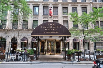 Exterior view of Talbott Hotel.