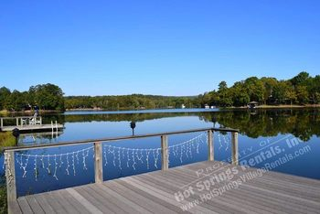 Lake view at Hot Springs Village Rentals.