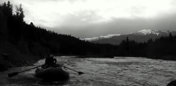 Canoeing at Spotted Bear Ranch.