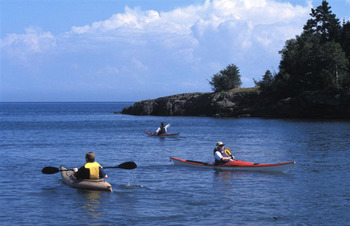 Water activities at Superior Shores Resort.