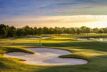 Golf course near Compass Cove Resort.