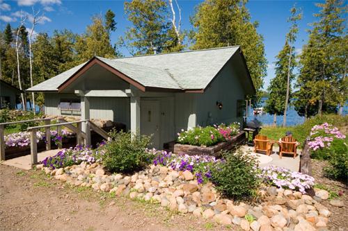 Cabin Exterior at Gunflint Lodge