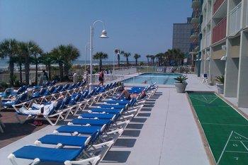 Sun chairs at Paradise Resort.
