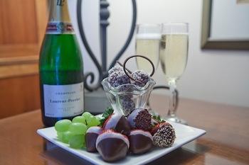 Wine and chocolates at Sea Palms Resort.