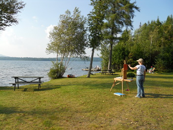 Outdoor activities at Hohmeyer's Lake Clear Lodge.