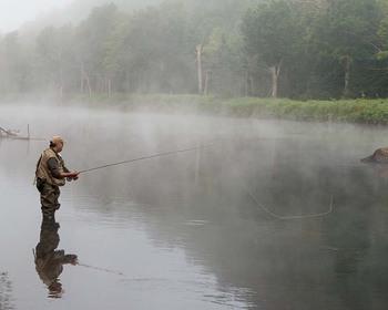 Fishing at Northwoods Inn.