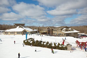 Exterior view of Big Powderhorn Mountain Resort.