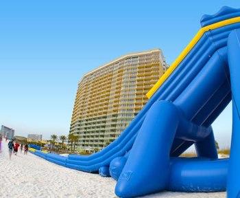 Inflatable Slide at The Boardwalk Beach Resort