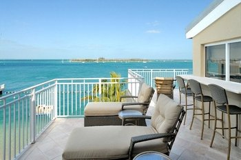 Balcony view at Pier House Resort & Caribbean Spa.